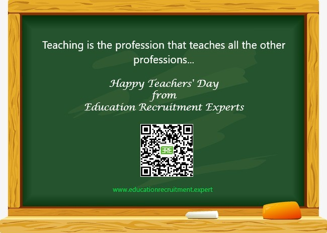 Happy Teachers Day written on a green board