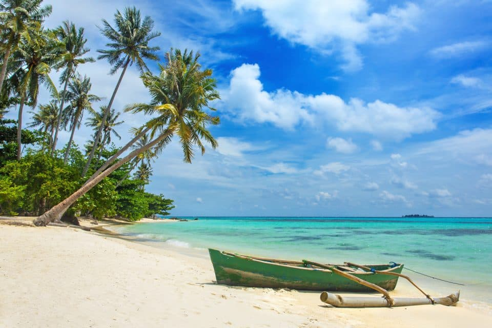 Kayak on a beach in Indonesia
