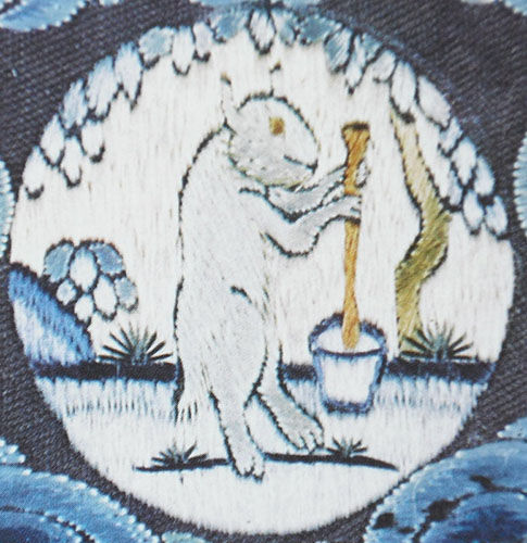 Rabbit stirring a pot