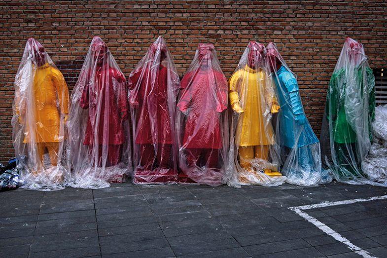 Terracotta army under wraps