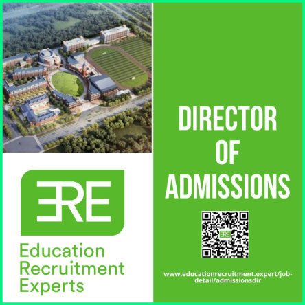 ERE Director of Admissions sign with WeChat QR code